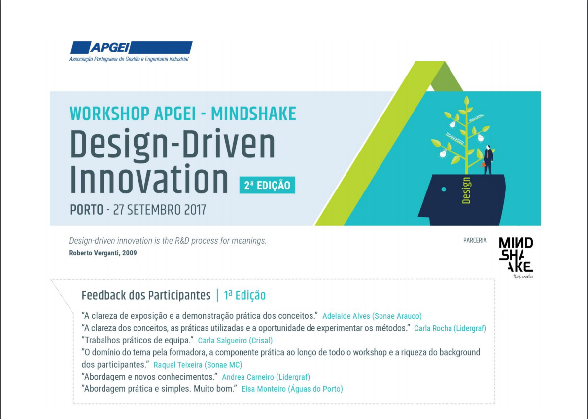 Workshop DESIGN DRIVEN INNOVATION (2ª Edição ) | Porto, 27 de Setembro